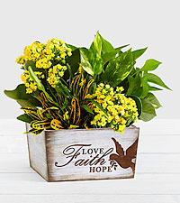 Sunshine & Joy Garden in Faith Love Hope Trug