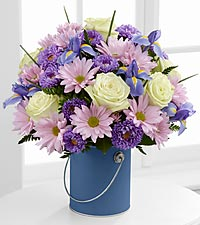 The Color Your Day Tranquility™ Bouquet by FTD ® - VASE INCLUDED