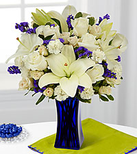 The FTD ® Beyond Blue™ Bouquet - VASE INCLUDED