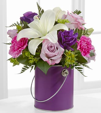 The Color Your Day With Beauty&trade; Bouquet by FTD&reg; - VASE INCLUDED