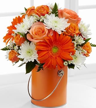 The Color Your Day With Laughter&trade; Bouquet by FTD&reg; - VASE INCLUDED