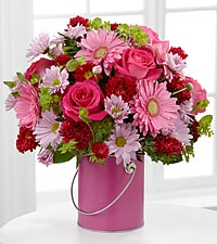 The Color Your Day With Happiness&trade; Bouquet by FTD &reg; - VASE INCLUDED