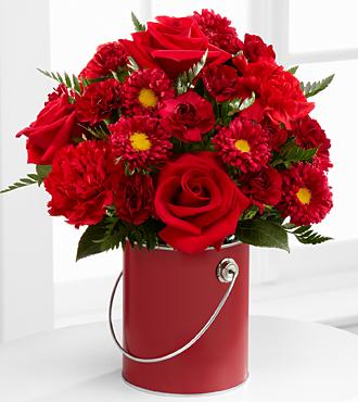 The Color Your Day With Love&trade; Bouquet by FTD&reg; - VASE INCLUDED