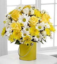 The Color Your Day With Sunshine&trade; Bouquet by FTD&reg; - VASE INCLUDED