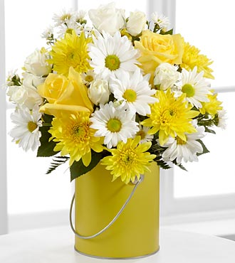 The Color Your Day With Sunshine™ Bouquet by FTD® - VASE INCLUDED