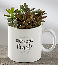Bless Your Heart Succulent Mug
