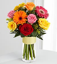 The FTD ® Pick-Me-Up ® Bouquet - 9 Stems - VASE INCLUDED