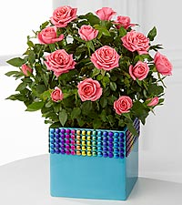 The FTD ® Pick-Me-Up ® Rainbow Skies Mini Rose