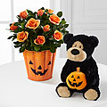 Spooky Sweetness Halloween Mini Rose with Gund® Bear