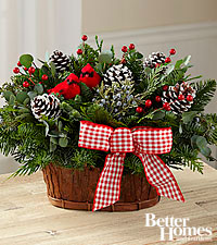 The FTD ® Joyful Tidings Holiday Basket by Better Homes and Gardens ®