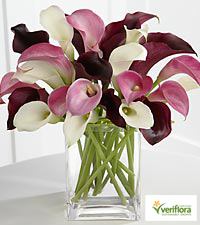 Amethyst Riches Calla Lily Bouquet - VASE INCLUDED