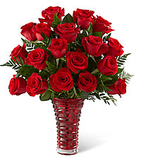 The FTD ® In Love with Red Roses™ Bouquet - VASE INCLUDED