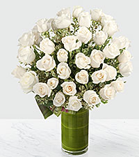 Clarity Luxury Rose Bouquet - 24-inch Premium Long-Stemmed Roses - VASE INCLUDED