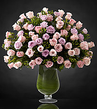 Bouquet de roses Applause Luxury - 72 roses de premi�re qualit� � tiges de 24 pouces - VASE INCLUS