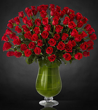 Attraction Luxury Rose Bouquet - 72 Stems of 24-inch Premium Long-Stemmed Roses - VASE INCLUDED
