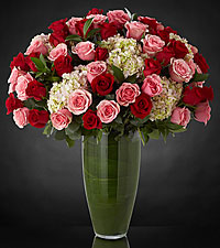 Bouquet de roses Indulgent Luxury - 48 roses de premi�re qualit� � tiges de 24 pouces - VASE INCLUS