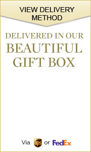 Delivered in our BEAUTIFUL GIFT BOX via UPS or FedEx