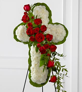 The FTD&reg; Floral Cross Easel