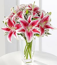 The Pink Lily Bouquet by FTD ® - VASE INCLUDED