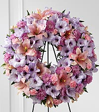 The FTD ® Sleep in Peace™ Wreath