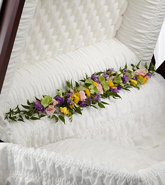 The FTD&reg; Trail of Flowers&trade; Casket Adornment