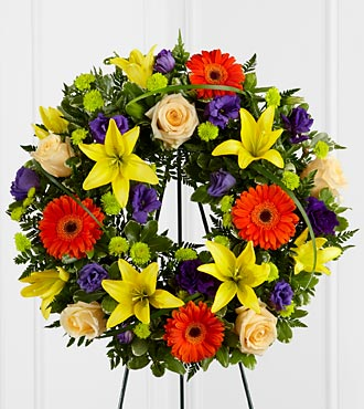 The FTD&reg; Radiant Remembrance&trade; Wreath