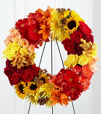 The FTD&reg; Rural Beauty&trade; Wreath