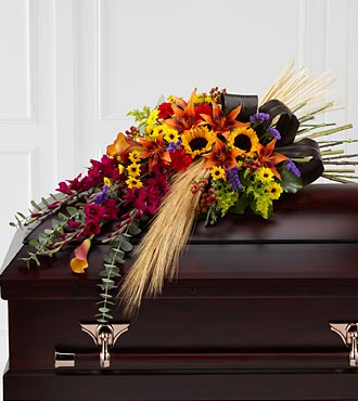 The FTD&reg; Glorious Garden&trade; Casket Spray