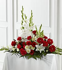The FTD ® Crimson & White™ Arrangement