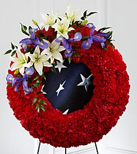 The FTD&reg; To Honor One's Country&trade; Wreath