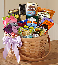 The FTD ® Quiet Tribute Gourmet Basket