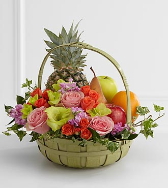 The FTD Rest In Peace Fruit U0026 Flowers Basket   S56 4572   Sympathy Sku