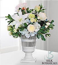 Jane Seymour Silk Botanicals Mixed Centerpiece in Vermeil Urn