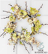 Jane Seymour Silk Botanicals Spring Blossom Wreath