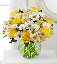 The FTD ® Sunlit Blooms™ Bouquet - VASE INCLUDED