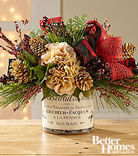 The FTD ® Golden Moments Silk Holiday Bouquet by Better Homes and Gardens ®