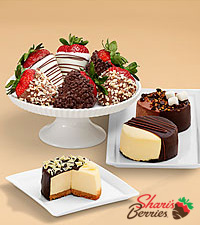 Dipped Cheesecake Trio and Half Dozen Fancy Strawberries