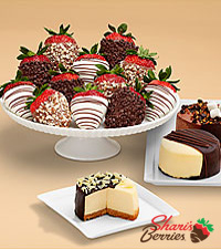 Dipped Cheesecake Trio and Full Dozen Fancy Strawberries