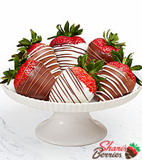 Half Dozen Gourmet Dipped Swizzled Strawberries