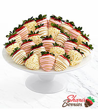 Two Full Dozen Pink Champagne Strawberries