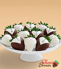 Full Dozen Hand-Dipped Wedding Strawberries