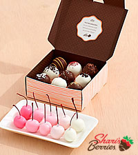 10 Ombre Cherries & 9 Assorted Cake Truffles
