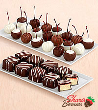 9 Strawberry Cheesecake Bites & 20 Hand-Dipped Cherries