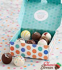Birthday Cake Truffles - 9 Piece