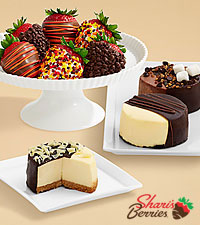 Dipped Cheesecake Trio & Half Dozen Autumn Strawberries