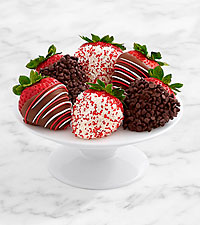 Half Dozen Gourmet Dipped Christmas Strawberries