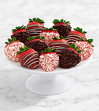 Full Dozen Gourmet Dipped Christmas Strawberries