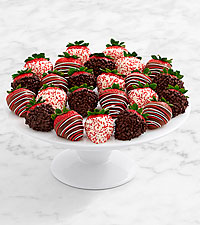 Two Full Dozen Gourmet Dipped Christmas Strawberries