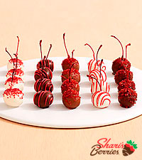 20 Hand Dipped Christmas Cherries