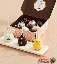 3 Easter Brownie Pops & 9 Assorted Cake Truffles